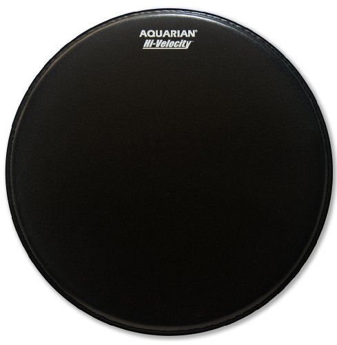 Aquarian Drumheads Vel14Bk Hi-Velocity 14-Inch Snare Drum Head, With Dot