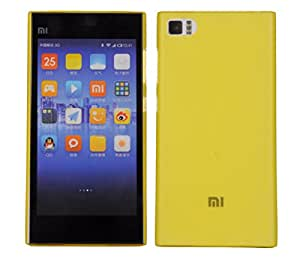 FalconTM Xiaomi Mi 3 Case, Slimline Series Cover Ultra Slim Fit Premium Protection Back Cover For Xiaomi Mi 3 (Yellow)