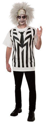 Rubie's Beetlejuice Costume Shirt And Wig, Multi, X-Large or Standard