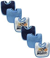 Always Baby Baby-Boys Sport 6 Piece Terry Bib Bundle, Sport, One Size