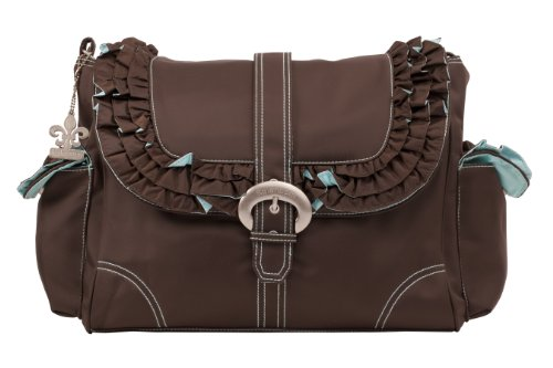 Kalencom Miss Prissy Buckle Bag, Chocolate/Blue