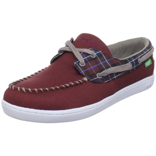 Keep Unisex Benten Boat Shoe,Maroon Blanket Plaid,7 M US Women's/5.5 M US Men's