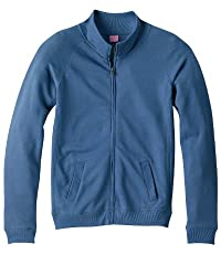 LAT - Ladies' French Terry Raglan-Sleeve Cadet Jacket