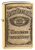 Zippo Cigarette Lighter, Jack Daniel's Label, Brass Emblem, High Polished Brass, Personalised FREE