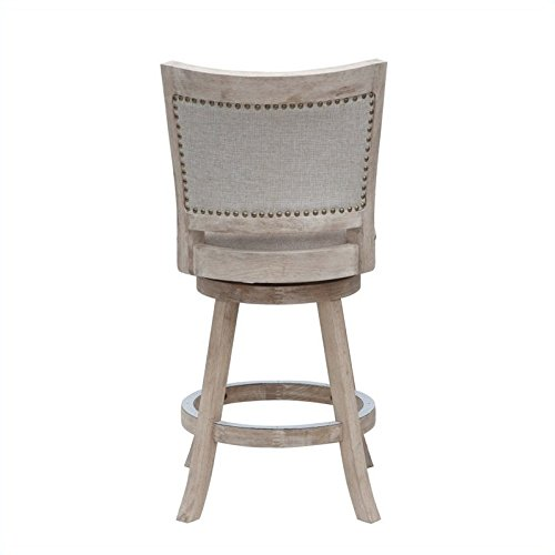 Boraam 76624 Melrose Counter Stool 24 Inch White Wash