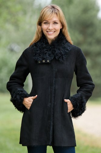 Women's Marianne Shearling Sheepskin Jacket, BLACK, Size 2