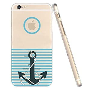 For iPhone 6 Case, Let it be Free iphone 6 (4.7-inch) Protective Case Soft Flexible TPU Transparent Skin Scratch-Proof Case for iPhone 6 (4.7-inch)- Anchor Pattern