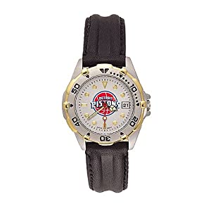 Detroit Pistons Ladies NBA All-Star Watch (Leather Band) by NBA Officially Licensed