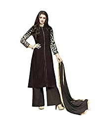 Rudra Textile Women's Brown Velvet Kameez With Palazzo Pant
