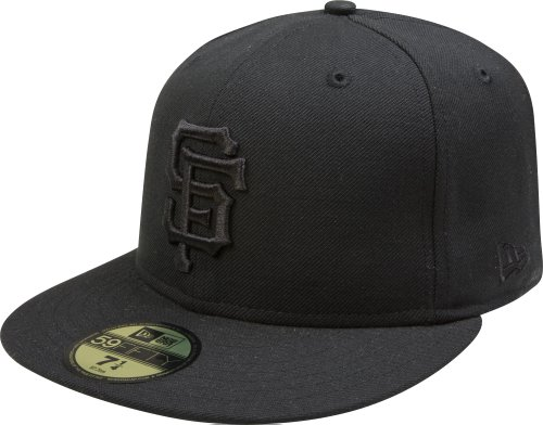 MLB San Francisco Giants Black on Black 59FIFTY Fitted Cap the northwest company mlb san francisco giants flameless candle