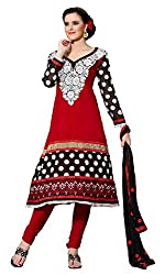 atisundar angelic Red Embroidered Anarkali- 3989_37_9008