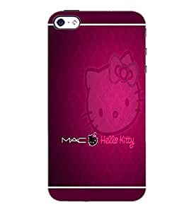 PrintDhaba Hello Kitty D-1305 Back Case Cover for APPLE IPHONE 5 (Multi-Coloured)
