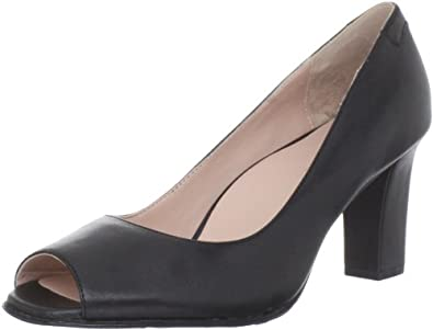 Taryn Rose Women's Fierce Open-Toe Pump,Black,5.5 M US