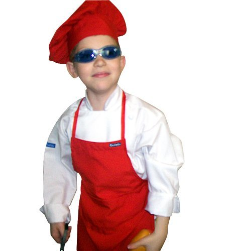 Chefskin Kids Red Mushroom Puffy Chef Hat Adjustable