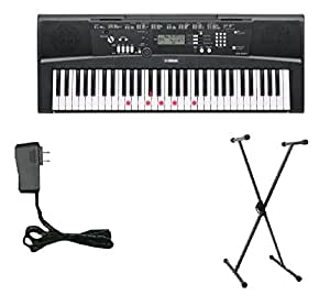 Yamaha EZ-220 Lighted Keyboard Bundle with Yamaha