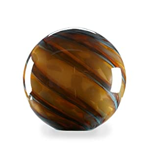 Abbott Collection Tan Glass Garden Gazing Ball