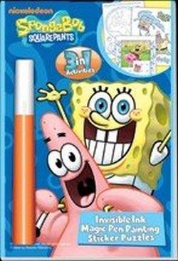 Sponge Bob Squarepants Invisible Ink Magic Pen Sticker & Puzzles