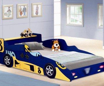 Formula 1 Blue Racing Car Bed - Joseph
