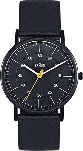 Braun BN0011BKBKL - Reloj analógico de mujer de cuarzo con correa de piel negra