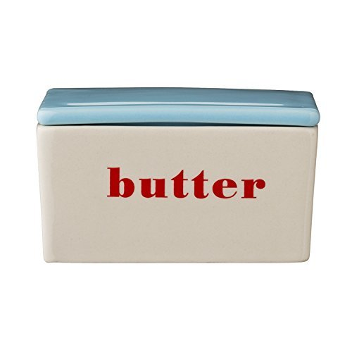 Bloomingville Ceramic Carla Butter Box, Multicolor by Bloomingville