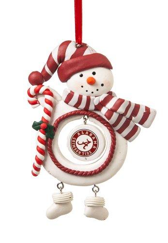 University of Alabama Jolly Christmas Snowman Ornament
