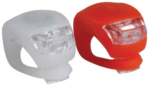 Profex, Set luci LED in silicone rosse / bianche, Rosso (Rouge, blanc)