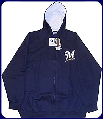 Milwaukee Brewers Full Zip Hoodie Sweatshirt Big & Tall