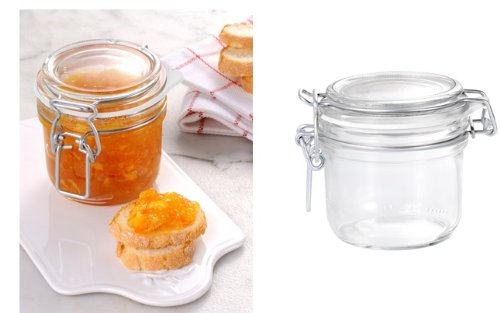 Approx 7 Oz Bormioli Fido brand Terrine Small Hermetic Canning Storage Jar - 2 Pcs