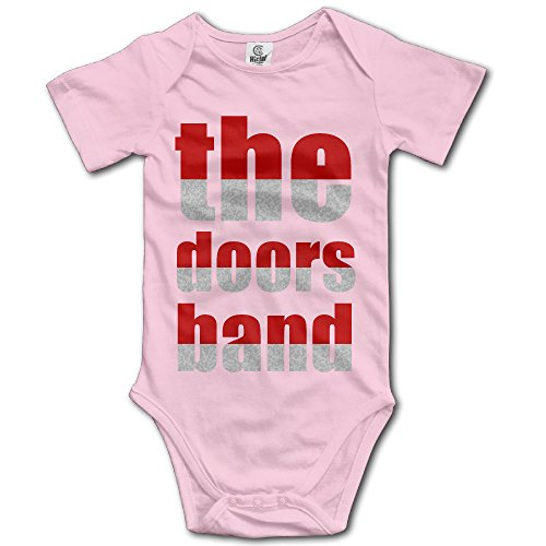 the-doors-pink-baby-funny-short-sleeves-variety-baby-onesies-bodysuit-for-little-baby-size-12-months