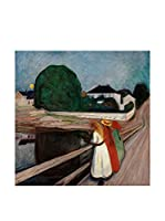 Especial Arte Lienzo Girls on the pier - Munch Edvard Multicolor