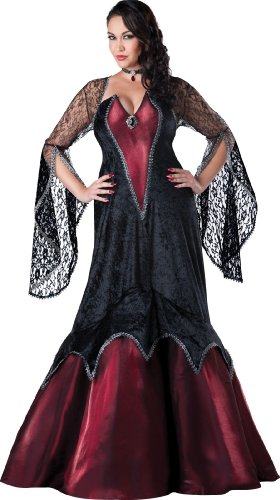 InCharacter Costumes Women's Plus-Size Midnight Vampires, Black/Red, 3X-Large