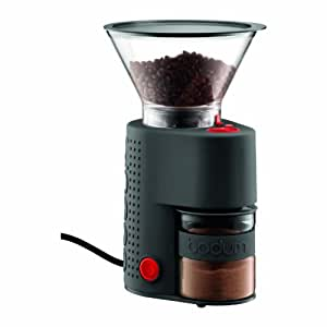 Bodum Bistro Electric Burr Coffee Grinder, Black