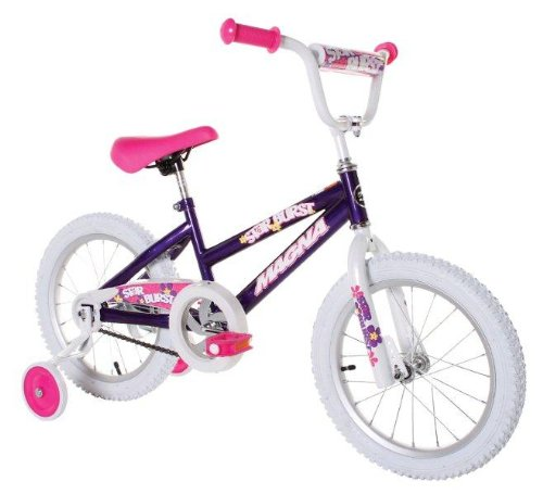 Dynacraft Magna Starburst Girl's Bike (16-Inch, Purple/White/Pink) 0
