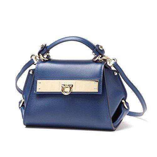 bcab3def3ffa Salvatore Ferragamo handbags (2-WAY version) SOFIA LEATHER SAPHIR blue  series womens - SHOP HANDBAG BOUTIQUE