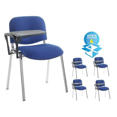 Stacking Chair (Set of 4) Colour: Blue