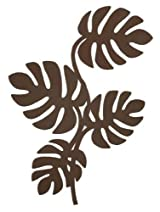 Brown Metal Leaf Wall Hanger for Accessories, Modern Home Decor
