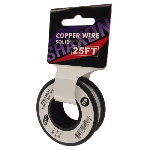 Shaxon So22-25Wt Solid Copper Wire On Spool, 25-Feet, White