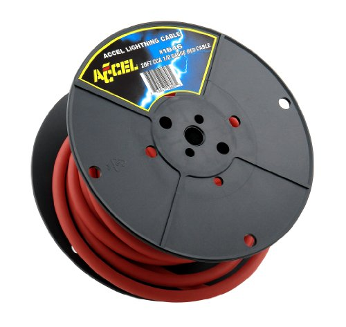 Accel 1846 Red 1-Gauge 20' Spool Silicone Battery Cable