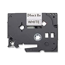 Brother HGE2515PK Black on White Barcode Label Tape