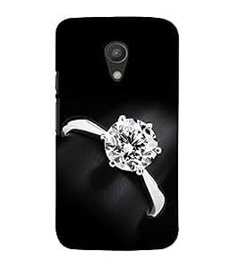 99Sublimation Diamond Ring 3D Hard Polycarbonate Back Case Cover for Motorola Moto G2 :: 2nd Gen :: G XT1068 :: G 2nd Gen :: G Dual SIM 2nd gen :: G Dual SIM 2014