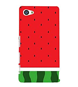 Watermelon Redish 3D Hard Polycarbonate Designer Back Case Cover for Sony Xperia Z5 Compact :: Sony Xperia Z5 Mini