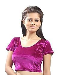 Khodiyar Creation Women's Purple Velvet Blouse