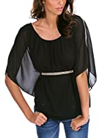 FRENCH CODE Blusa Never (Negro)