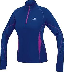 Gore Running Wear Damen Shirt Mythos Thermo Lady, Plum Blue/Blue Berry, 34, SMYTHR343306