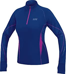 Gore Running Wear Mythos Thermo Maillot femme Plum Blue/Blue Berry FR :  34 (Taille Fabricant :  XS)