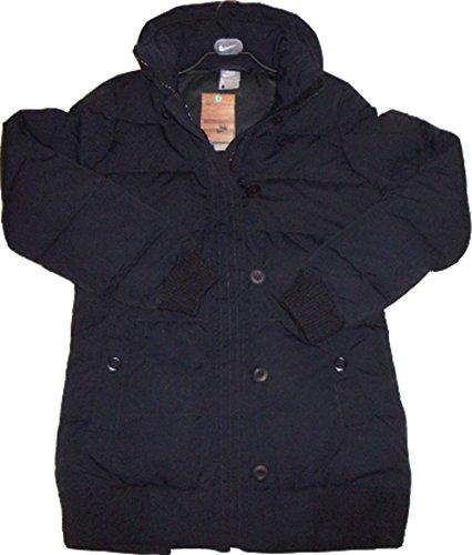 Nike da donna piumino 336998Waffle isolamento termico cappuccio nel colletto nero Medium