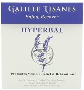 Galilee Tisanes Hyperbal, 100 Tea Bags