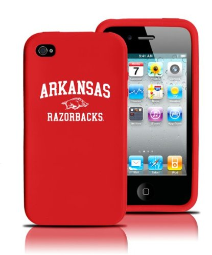 Tribeca  FVA4134 Varsity Jacket Silicone iPod Touch 4G - Arkansas, U of - Red at Amazon.com
