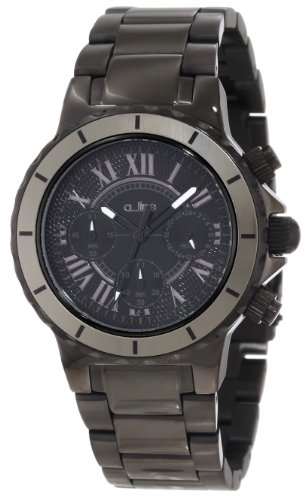 a_line Women's 20109DV Marina Chronograph Black Textured Dial Watch