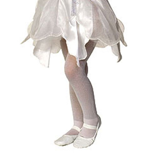 White Sparkle Tights Child Accessory